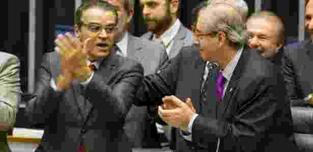 Denunciados, os ex-presidentes da Câmara Henrique Alves (e) e Eduardo Cunha estão presos - Sergio Lima/Folhapress