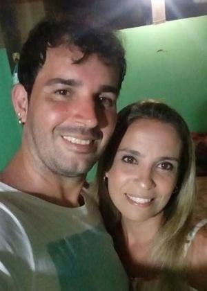Flávia Ahrends e o marido, Eduardo Baptista - Arquivo Pessoal