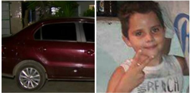 Renan Miranda (foto) foi atingido no banco de trás do carro do pai durante arrastão