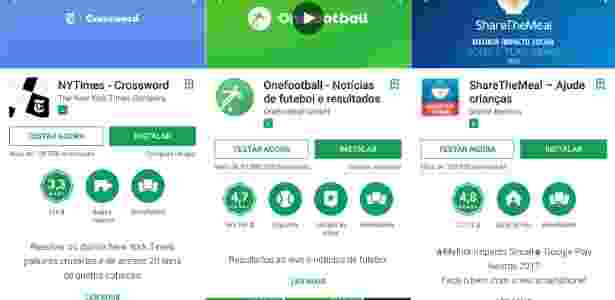 """Google Play começa a mostrar a opção """"testar agora"""" para alguns dispositivos - Reprodução"""