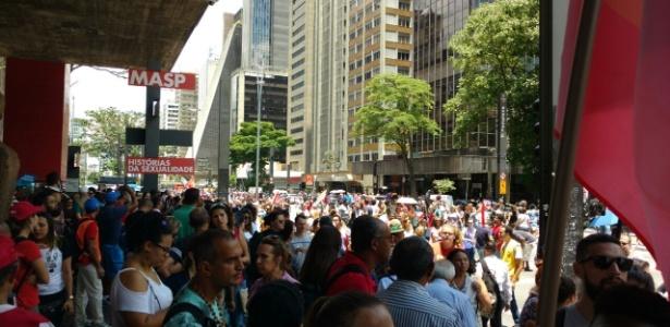 Concentração de manifestantes na avenida Paulista, na região central de São Paulo - Ricardo Marchesan/UOL