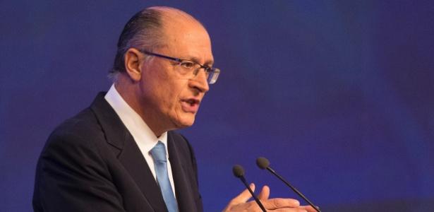 9.ago.2018 - Geraldo Alckmin (PSDB) no debate da Band