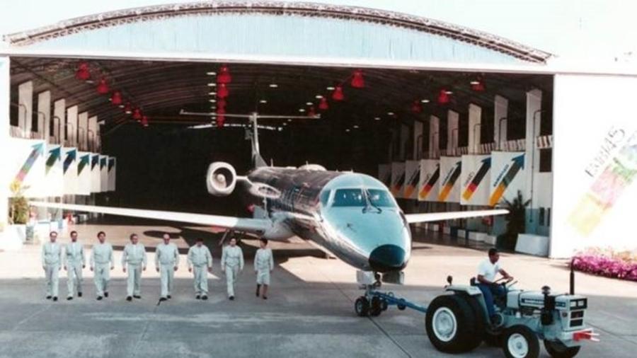 Recuperação da Embraer após a reestruturação foi impulsionada por projetos como o do jato comercial ERJ-145 para 50 passageiros - Divulgação/Embraer