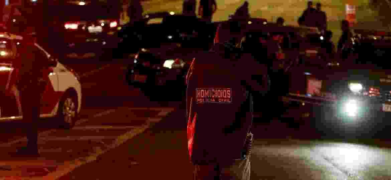 Local em que dois suspeitos foram mortos por policiais militares da Rota, no viaduto Capitão Pacheco e Chaves, em São Paulo - 4.abr.2019 - Marcelo Goncalves/Sigmapress/Folhapress