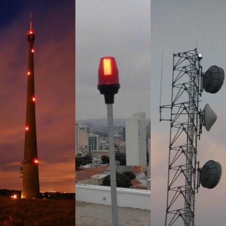 Luzes-piloto no topo de prédios - Divulgação/Reprodução
