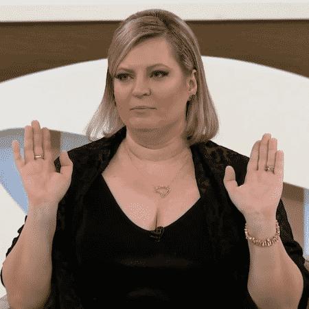 "Joice Hasselmann durante entrevista ao programa ""Roda Viva"", da TV Cultura - Reprodução"