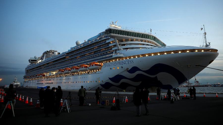 O navio Diamond Princess está atracado em Yokohama, no Japão - REUTERS/Kim Kyung-Hoon
