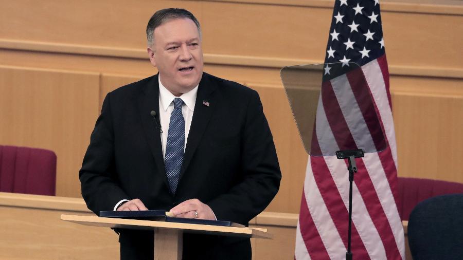 Secretário de Estado dos EUA, Mike Pompeo fez discurso uma semana antes de deixar o cargo -