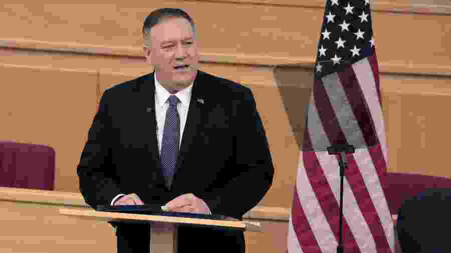 Secretário de Estado dos EUA, Mike Pompeo -