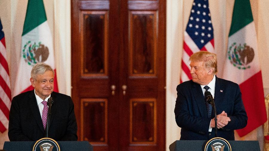 Presidente do México, Andrés Manuel López Obrador, e presidente dos Estados Unidos, Donald Trump - Anna Moneymaker-Pool/Getty Images
