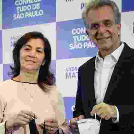 A deputada estadual Marta Costa (PSD), candidata a vice-prefeita de São Paulo na chapa de Andrea Matarazzo (PSD) - 31.ago.2020 - Reprodução/Facebook/AAndreaMatarazzo - 31.ago.2020 - Reprodução/Facebook/AAndreaMatarazzo