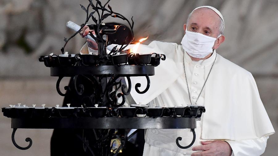 """Papa Francisco fez celebrações perto do """"esmoleiro"""" infectado - Andreas Solaro/AFP"""