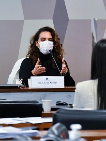 A médica infectologista Luana Araújo durante depoimento na CPI da Covid, no Senado, nesta semana - Jefferson Rudy/Jefferson Rudy/Ag?ncia Senado