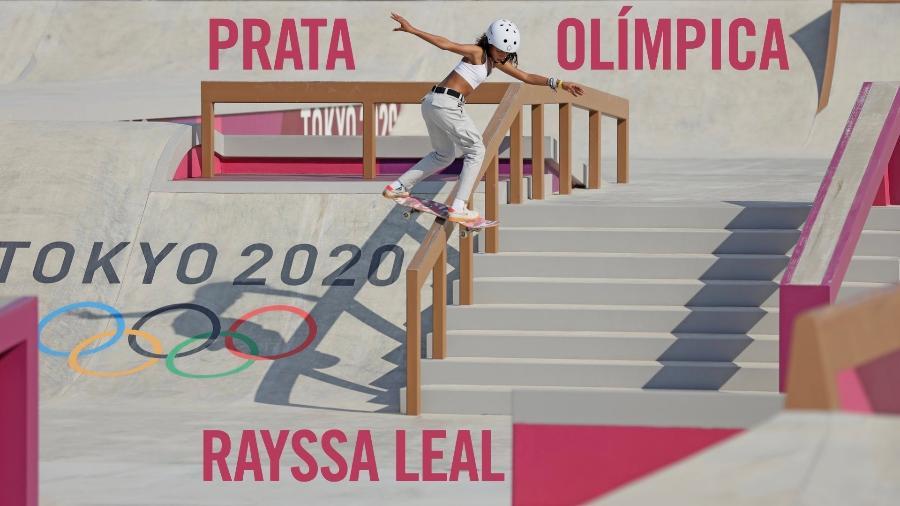 Imagem publicada por Rayssa Leal em seu perfil no Twitter após a conquista da medalha de prata nas Olimpíadas de Tóquio - Reprodução/ Twitter/ @Rayssa_Leal_Sk8