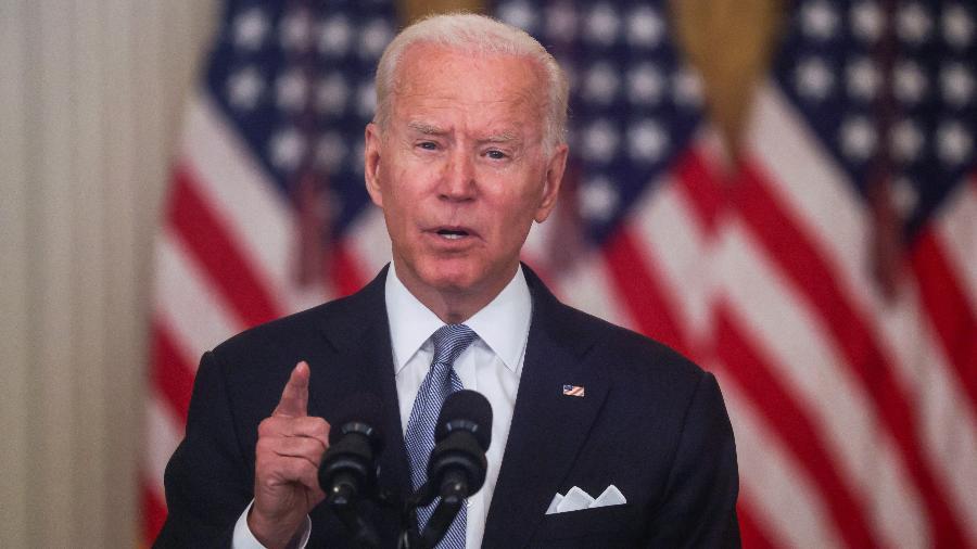 Biden ainda lembrou que o Congresso discute neste momento seu projeto sobre impostos - Leah Millis/Reuters