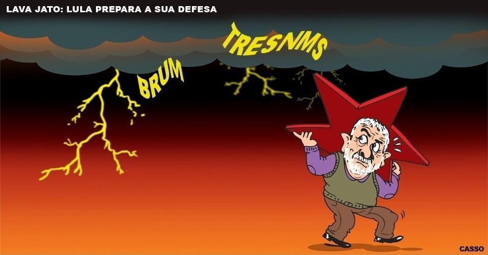 15.set.2016 - Uma tempestade ronda o ex-presidente Lula