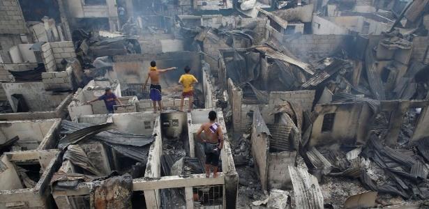 Incêndio atingiu mais de 500 residências na cidade de Mandaluyong