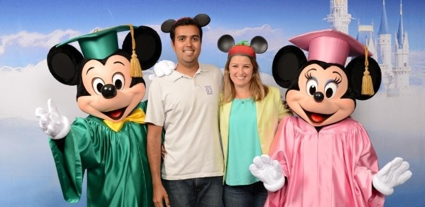 Felipe Magalhães e Rebeca Lopes foram à Disney oito vezes como turistas
