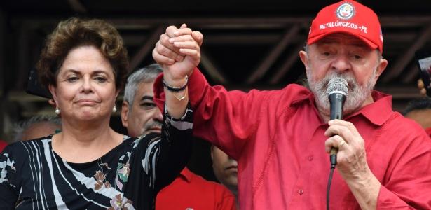 Os ex-presidentes Luiz Inácio Lula da Silva e Dilma Rousseff, ambos do PT