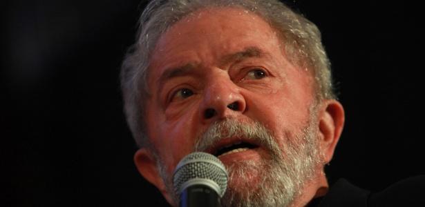 O ex-presidente Lula no congresso do PCdoB, em novembro