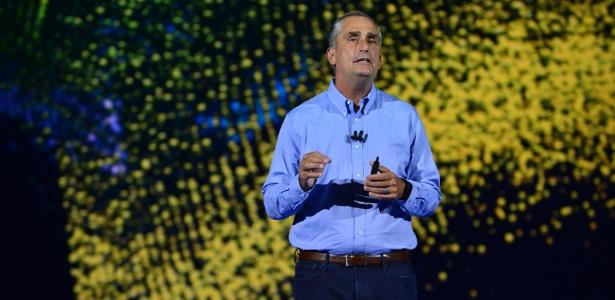 O CEO da Intel, Brian Krzanich, abre evento da empresa na CES, em Las Vegas - Walden Kirsch/Intel Corporation