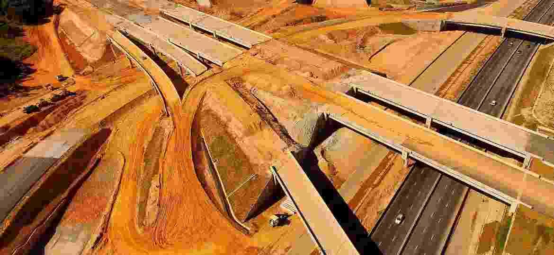 Vista aérea das obras do trecho Norte do Rodoanel Mario Covas: denúncias de corrupção em série e condenações na Lava Jato  - Luis Moura/WPP/Estadão Conteúdo