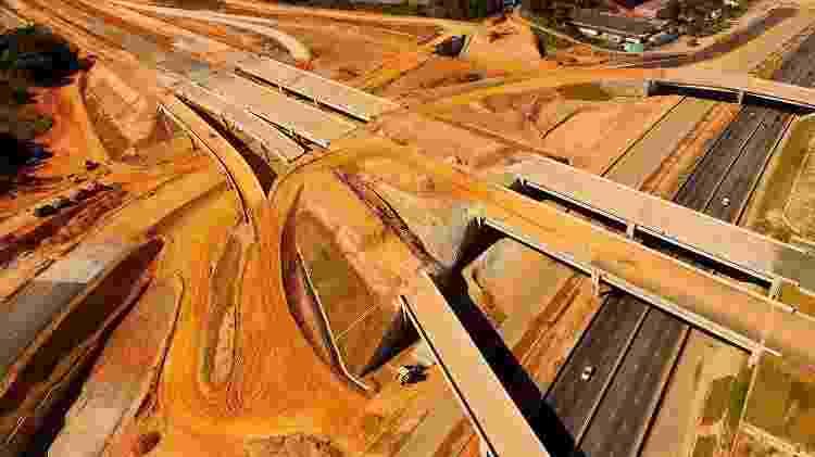 Vista área de obras do Rodoanel Mário Covas: projeto bilionário do governo de SP é alvo de diversas denúncias de corrupção - Luis Moura/WPP/Estadão Conteúdo