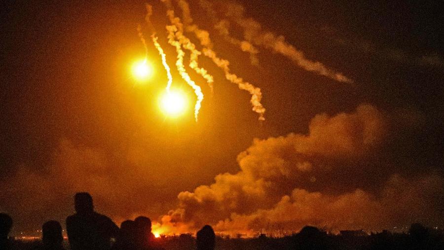 Ataque de forças apoiadas pelos Estados Unidos contra o Estado Islâmico na Síria - Delil Souleiman/AFP
