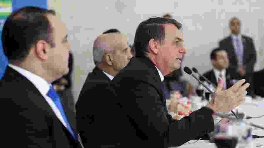 11.jul.2019 - Presidente Jair Bolsonaro (PSL) participa de café da manhã com a bancada evangélica do Congresso, no Palácio do Planalto - Marcos Corrêa/PR