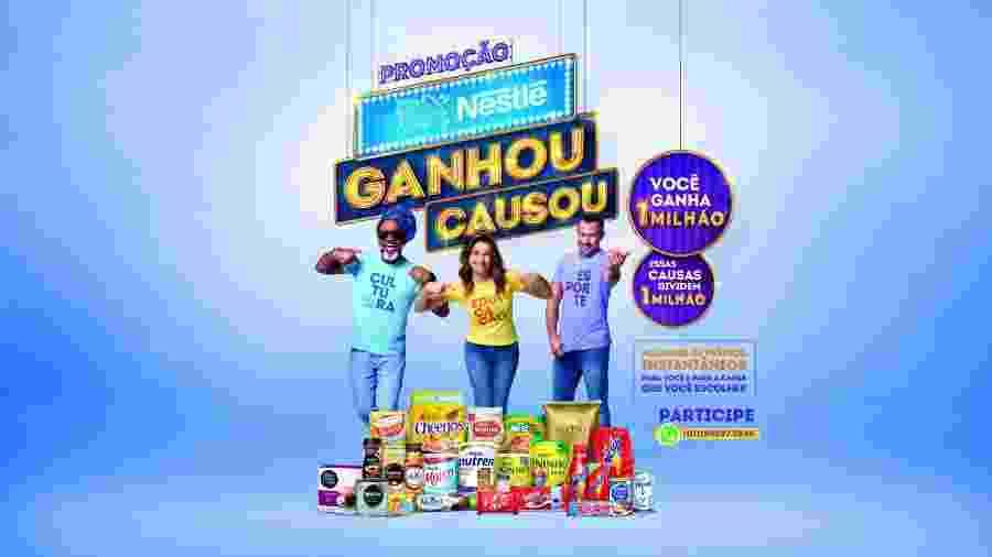 Carlinhos Brown, Fernanda Gentil e Malvino Salvador são estrelas de nova promoção da Nestlé - Divulgação