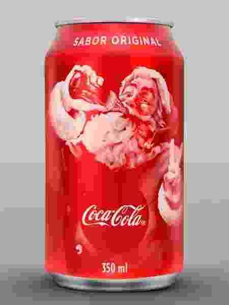 Coca-Cola lança embalagem especial para o Natal, com o Papai Noel em destaque - Divulgação