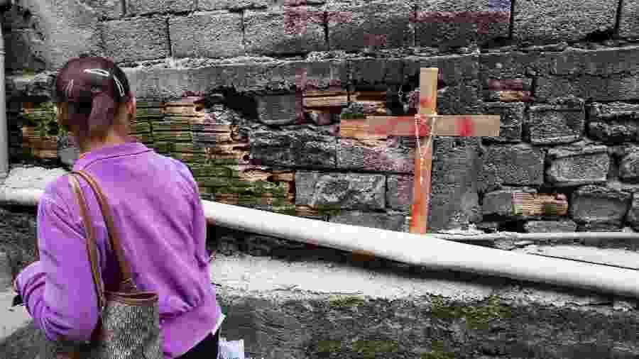 Viela da comunidade de Paraisópolis, na zona sul de São Paulo, onde pessoas morreram pisoteadas durante tumulto após ação da Polícia Militar (PM) - TIAGO QUEIROZ/ESTADÃO CONTEÚDO