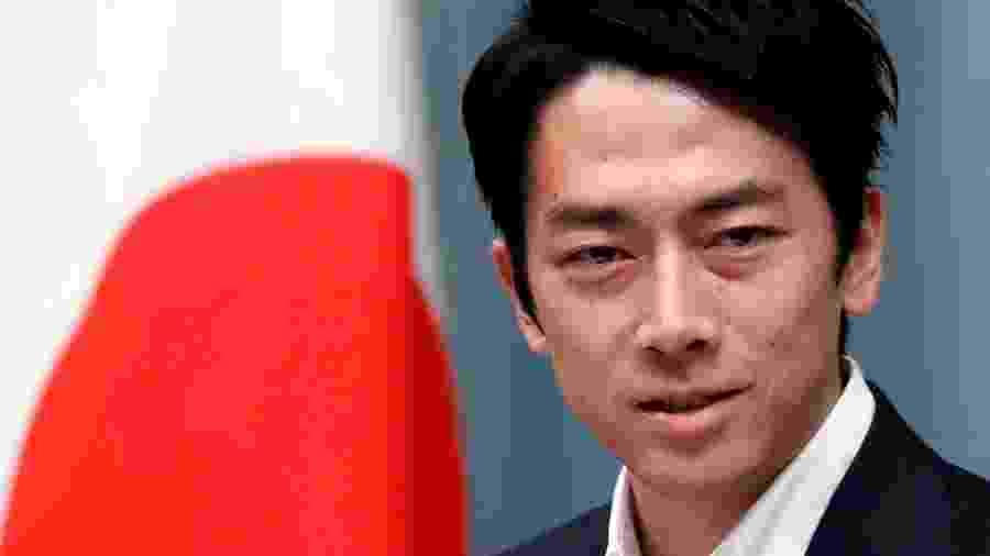11.set.2019 - O ministro do Meio Ambiente do Japão, Shinjiro Koizumi antes de reunião com o primeiro-ministro japonês Shinzo Abe, em Tóquio - Issei Kato/Reuters