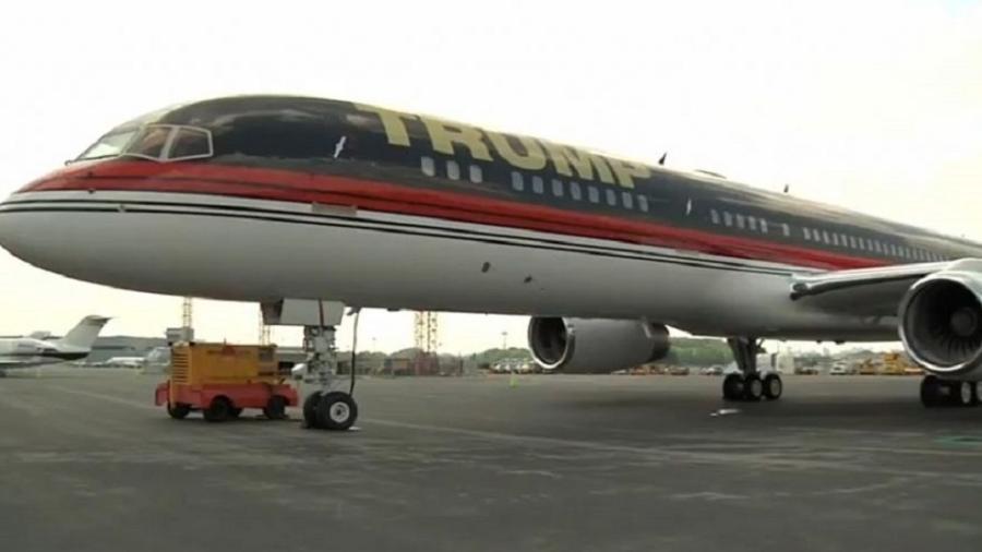 """Boeing 757 é considerado a """"joia da coroa"""" da frota particular de Trump - Reprodução"""