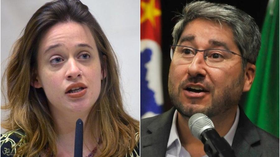 A deputada Isa Penna (PSOL) acusou Fernando Cury (Cidadania) de importunação sexual por ele tê-la apalpado na Alesp - Divulgação