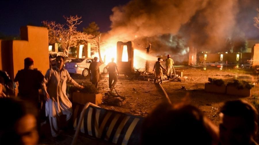 Talibã reivindicou autoria de explosão no hotel Serena, na cidade de Quetta, no Paquistão - AFP
