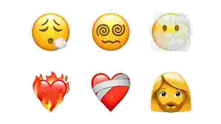 iOS 14.5 - Novos emojis 2 - Divulgação/Apple - Divulgação/Apple