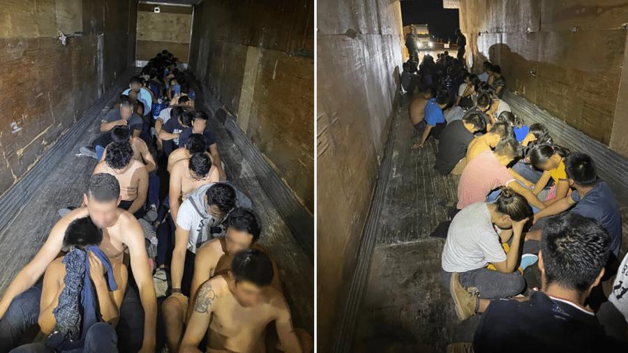 Caminhão com 49 imigrantes ilegais foi interceptado no Texas (EUA), por Agentes do Departamento de Alfândega e Proteção de Fronteira - Divulgação/U.S. Customs and Border Protection