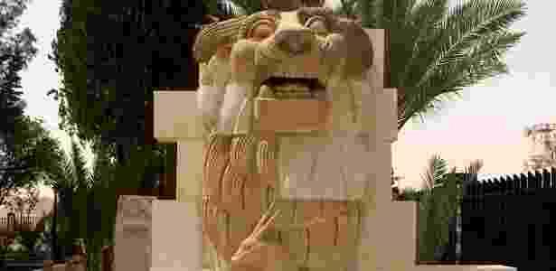 Leão de Athena, em Palmira - Reprodução/Wikipedia - Reprodução/Wikipedia
