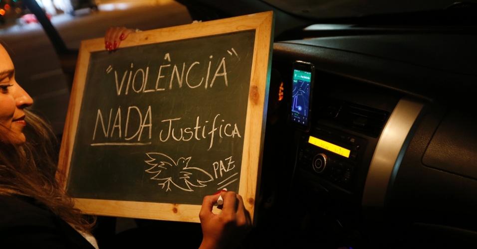 """""""Não gosto de violência de nenhum tipo. Eu acho que o respeito é o mínimo que temos que ter uns pelos outros. Falta muita gentileza em São Paulo""""."""