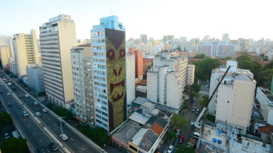 Jardim vertical ao lado do Minhocão, em São Paulo - Karime Xavier/Folhapress