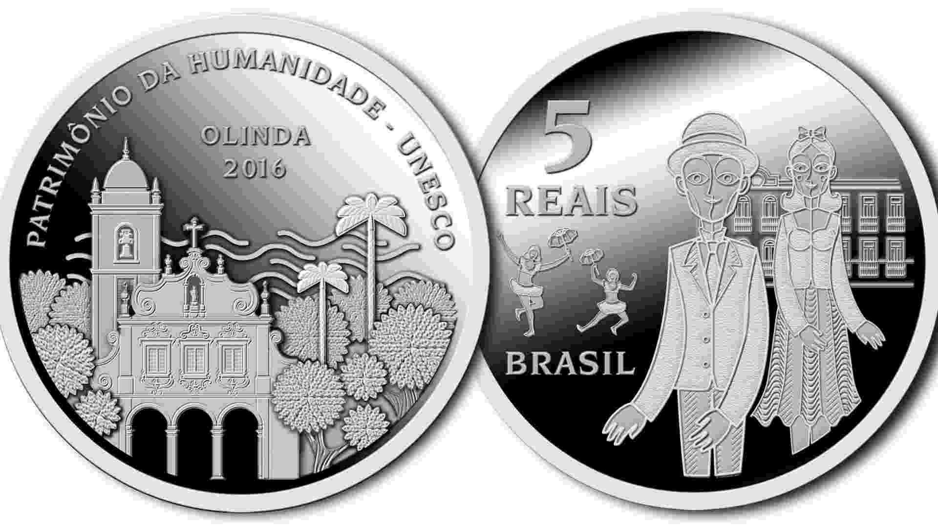 Moeda comemorativa Olinda - Divulgação/BC