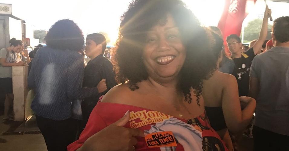 18.mai.2017 - Manifestantes se concentram na Rodoviária do Plano Piloto, área central de Brasília.