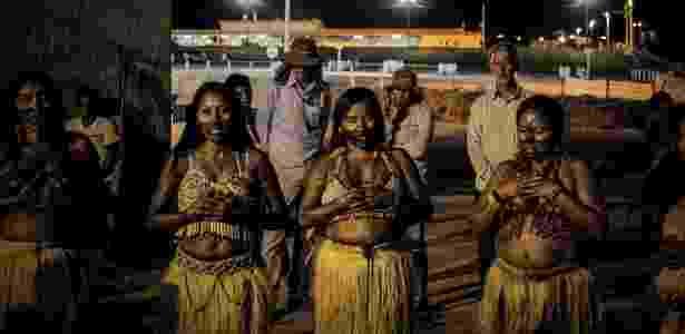 Protesto dos índios - Juliana Rosa Pesqueira/Fórum Teles Pires - Juliana Rosa Pesqueira/Fórum Teles Pires