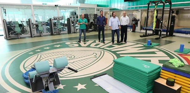 Academia de ginástica foi um dos vários ambientes reformados no CT do Palmeiras