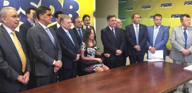 Ao lado de Ricardo Ferraço e Mara Gabrilli, Tasso anuncia candidatura para presidência do PSDB