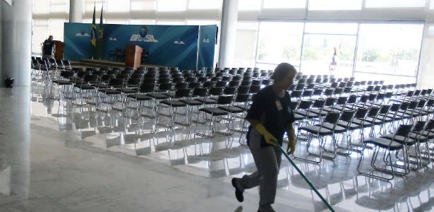 Salão Nobre do Palácio do Planalto foi preparado para a posse