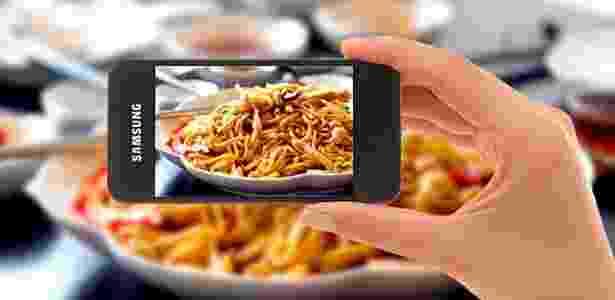 Vai um prato de macarrão da Samsung? E um cereal do Airbnb? - Reprodução