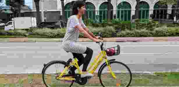 Bicicleta da Yellow em uso - Divulgação - Divulgação
