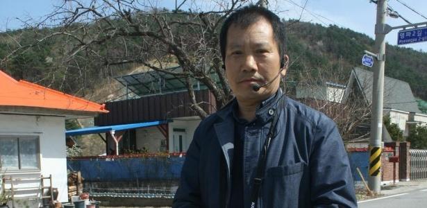 Jang Seok-gwon, prefeito de Myeongpa-ri, o vilarejo mais ao norte da Coreia do Sul - DW/F. Kretschmer